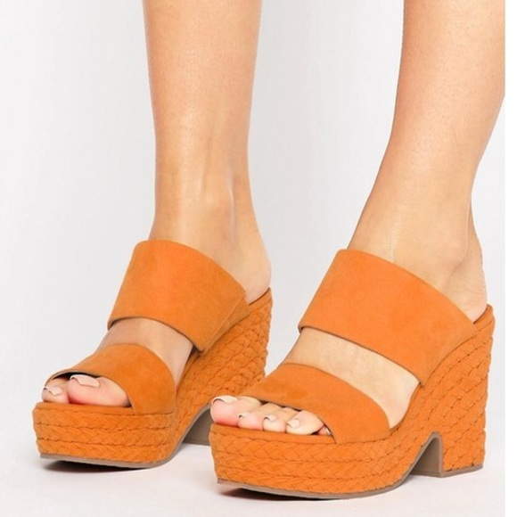 1084e17c4fd1 ASOS Shoes - Orange ASOS platform sandals 👡 size 7